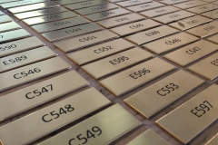 Brass Etched Room Number Plates